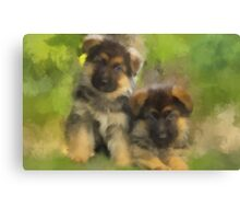 Playful Pups Canvas Print