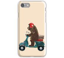 scooter bear iPhone Case/Skin