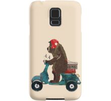 scooter bear Samsung Galaxy Case/Skin