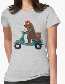 scooter bear Womens Fitted T-Shirt