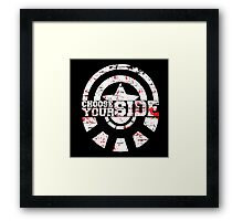 Civil War - Choose Your Side Framed Print
