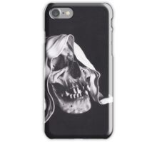 Realism Charcoal Drawing of Reaper Skull iPhone Case/Skin