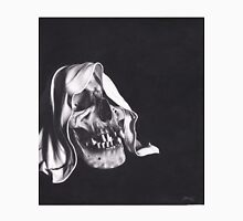 Realism Charcoal Drawing of Reaper Skull Unisex T-Shirt