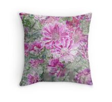 Design for silk - Pastel Flowers Throw Pillow