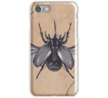 Realism Charcoal Drawing of Beetle iPhone Case/Skin