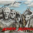 Kher Ridges Postcard by Krystal Frazee