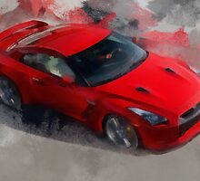 Red Sports Car by rok-e