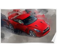 Red Sports Car Poster