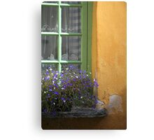 The Yellow Wall Canvas Print