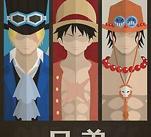 One Piece Brothers by artemys