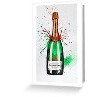 Bollinger Champagne Bottle Greeting Card