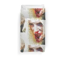Face of a Vampie by Sarah Kirk Duvet Cover