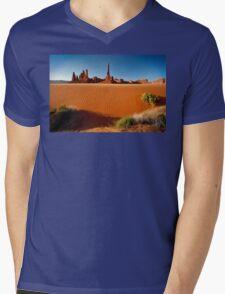 Totem Pole Sands Mens V-Neck T-Shirt