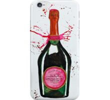 Pink Champagne Bottle iPhone Case/Skin