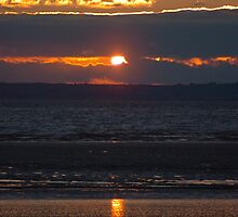 Bristol Channel Sunset by Rees Adams