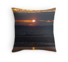 Bristol Channel Sunset Throw Pillow