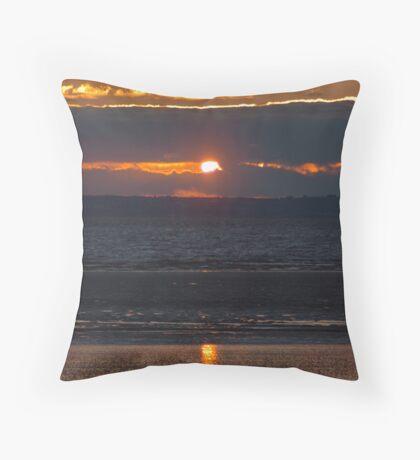 Bristol Channel Sunset Throw Pillow