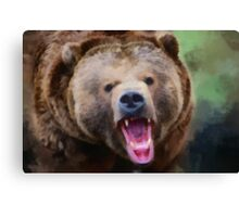 Snarling Grizzly Canvas Print