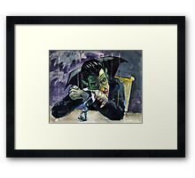 Job Interview: Count Dracula Marionette Framed Print