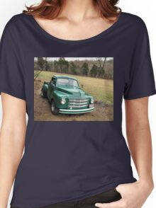 """""""Studebaker Truck: Put Out to Pasture , 'til the Next Ride""""... prints and products Women's Relaxed Fit T-Shirt"""