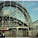 Coney Island, the Cyclone Roller Coaster  by Reinvention