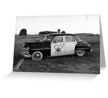 Old Police Cruiser Greeting Card