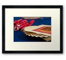 Paper Money and Candles Framed Print