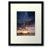 Drifting Couple - Sky Framed Print