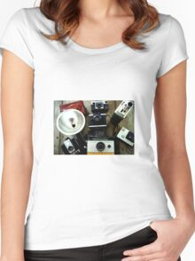 Give me your best shot Women's Fitted Scoop T-Shirt