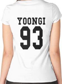 Yoongi 93 Women's Fitted Scoop T-Shirt
