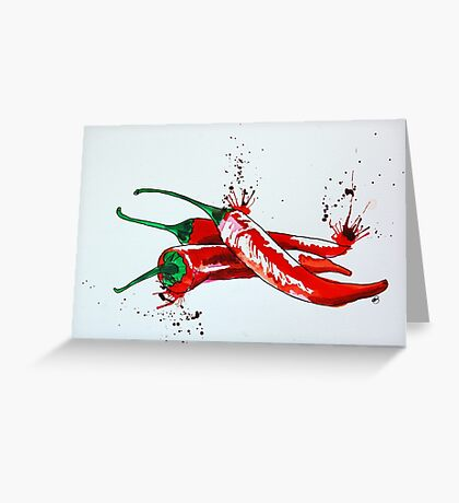 Red Hot Chilli Pepper Greeting Card