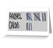 Chloe's Decal -Tally Marks from the Junkyard Greeting Card