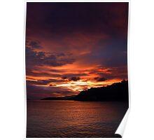 Sunset - Islands, Caribbean Poster