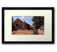 House In The Hills Framed Print