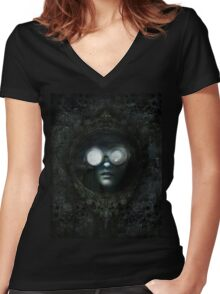 Lost Steampunk Mirror Women's Fitted V-Neck T-Shirt