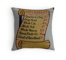 Sign of a city under siege Throw Pillow