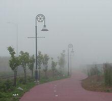 Misty New Brunswick Morning by lar3ry