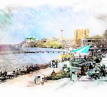 Memorial Union by the Lake by victor kilman