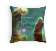 Hitchhiker's Guide Quote Throw Pillow