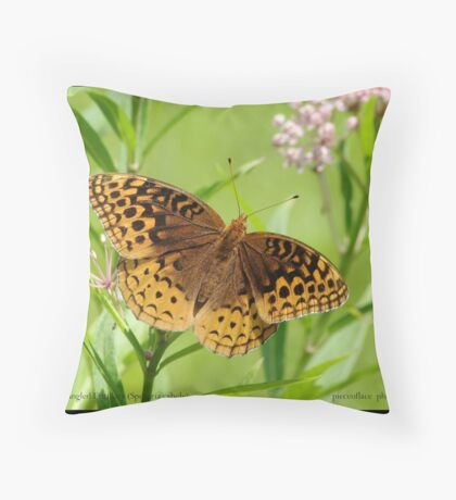 Great Spangled Fritillary butterfly... Throw Pillow