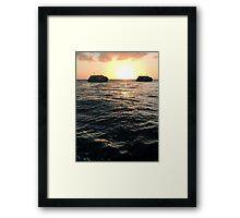 Drifting Couple - Water Framed Print