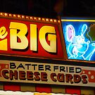 Cheese curd neon sign from the Minnesota State Fair by Nanagahma