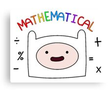 Adventure Time Finn MATHEMATICAL Canvas Print