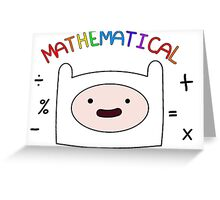 Adventure Time Finn MATHEMATICAL Greeting Card
