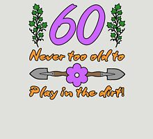60th Birthday For Gardeners Womens Fitted T-Shirt