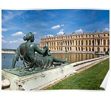 Lying in front of Chateau de Versailles Poster