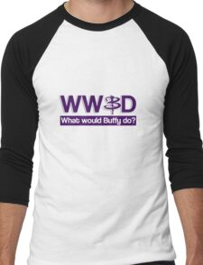 What would Buffy do? Men's Baseball ¾ T-Shirt