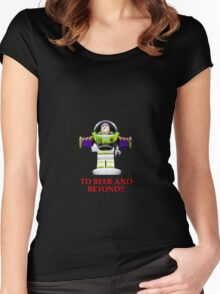 BUZZ ,TO BEER AND BEYOND! Women's Fitted Scoop T-Shirt