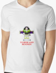BUZZ ,TO BEER AND BEYOND! Mens V-Neck T-Shirt