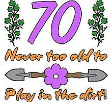 70th Birthday For Gardeners by thepixelgarden